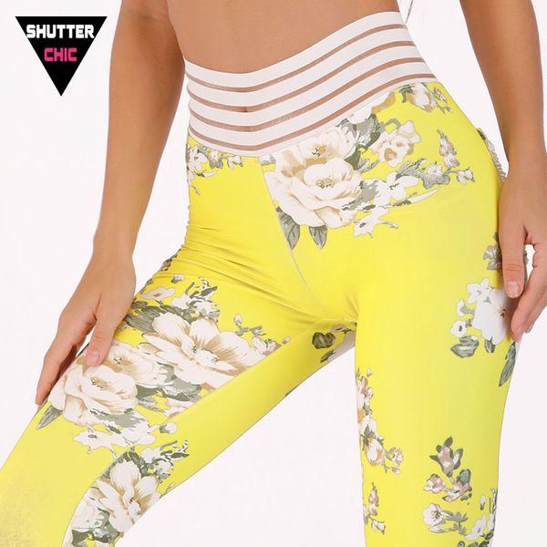 Shutterchic Print Leggings Sports Fitness Yoga Pants Women 2018 Harajuku Elastic High Waist Leggings Gym Jogging Femme Sale