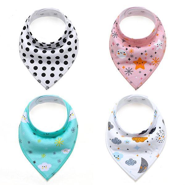 Double Layer INS Baby Feeding Burp Cloths Newborn Infant 100% Cotton Floral Fox Cartoon Cute Baby Bandana Bibs