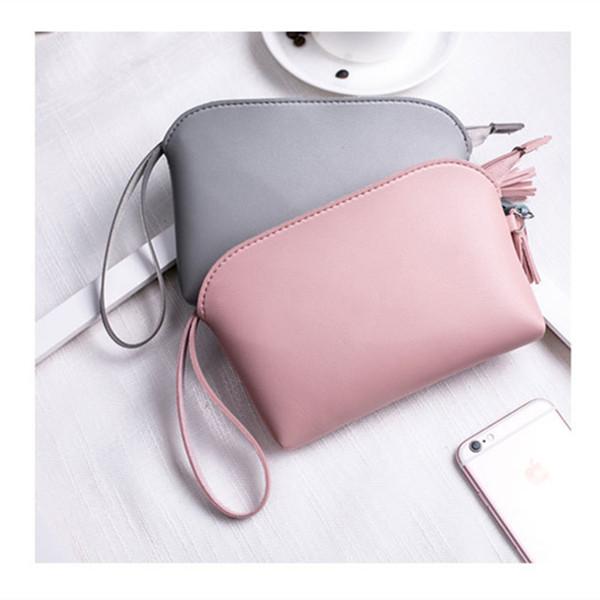 Fashion clutch con manico rosa in pelle PU borsa di design designer busta borsa a mano borsa a mano piccola elegante nappa