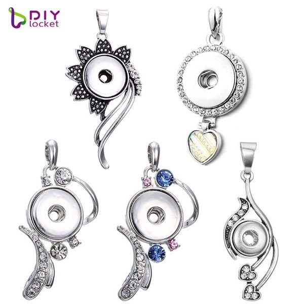 Slivei light Snap Jewelry Pendants For Women LSNP90/22/74/77/94