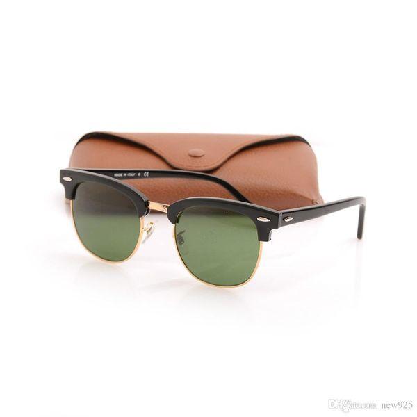 High Quanlity drive glasses Metal hinge Plank glasses Master unisex sunglasses mens black sunglasses Club women sun glasses with brown cases
