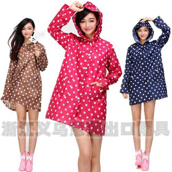 2015 spring new Korean Slim Siamese fashion cute lady adult Adult windbreaker raincoat poncho section