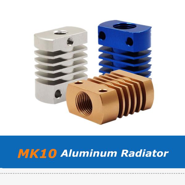 3pcs Blue/Golden/Silver Cooling Aluminum Block Heatsink Fins, MK10 E3D V6 Heat Sink Radiator 3D Printer Part