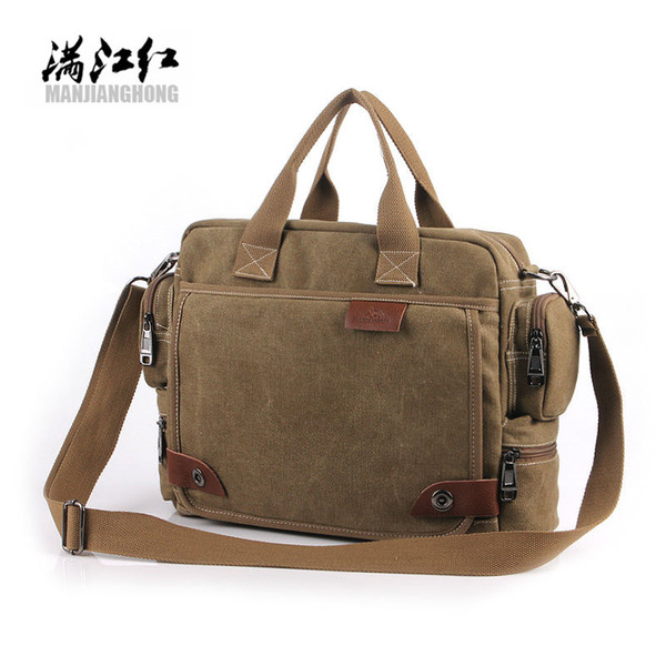 Nouveau design! Sac de toile de mode Bavi, sacs à bandoulière décontractés pour hommes, sac messenger pour hommes, mallette pour ordinateur portable en toile de haute qualité