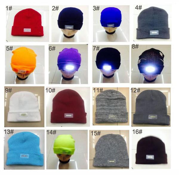 f7b0aa17dbb LED Knitted Hats Women Men Camping Lighting Beanie Skull Caps Travel Sports  Hiking Climbing Night Hat Winter Crochet Hats Light Up Cap
