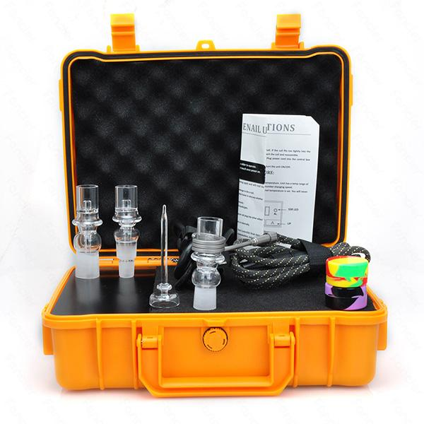 E Dab Nail Electric Quartz Nail Q2 Glass adapter Temperature Controller Box 110V 220V heating coil Water pipe Smoking