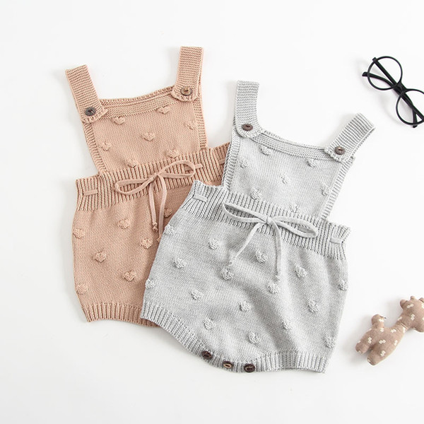6c3beb280510 Everweekend Toddler Girls Baby Rompers Autumn Spring Knnitted Knitting Cute Infant  Sweater New Fashion Crochet Rompers