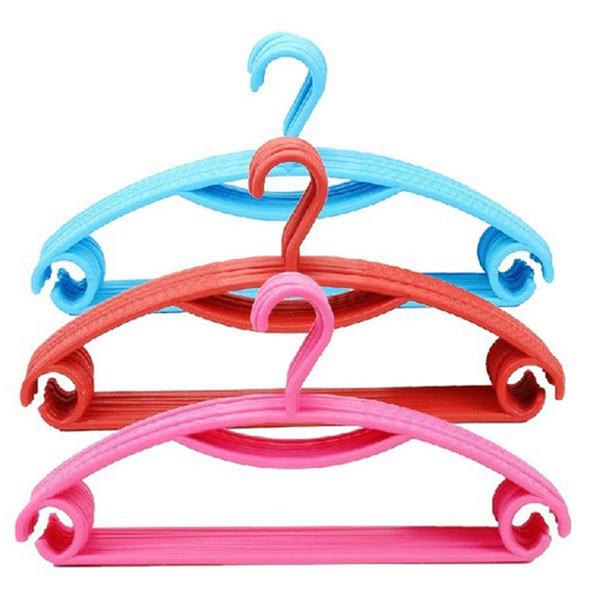 "Rainbow Plastic Non-slip Casual Plastic Candy-colored Hanger / Dry Wet Clothes Hangers 40.5CM * 20.5CM (15.95 ""* 8.07"") 8 Color Select"