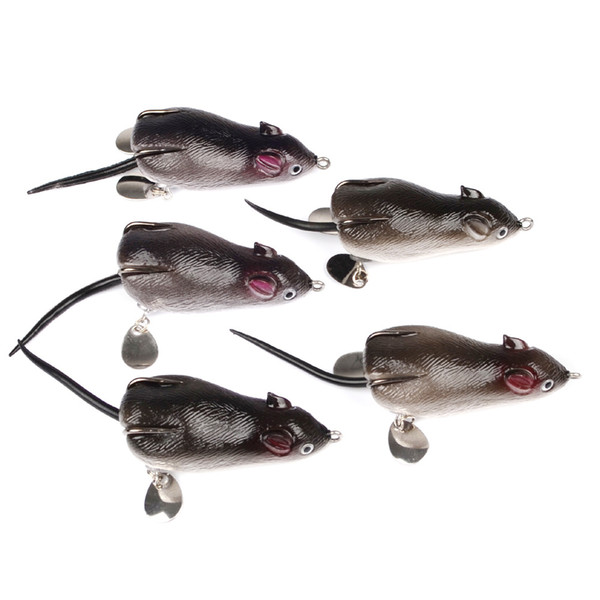 rtificial bait JSFUN 5pc/lot Rat Fishing Lure 7cm 17.4g Plastic Mouse Swimbait Soft Silicone Bait Frog Artificial Baits Topwater For Bass...
