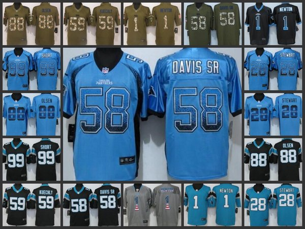 buy popular b608a 481a7 2019 Carolina Panthers Embroidery Man Jersey #1 Cam Newton 28 Jonathan  Stewart 99 Kawann Short 88 Greg Olsen Women Youth Football Jerseys From ...
