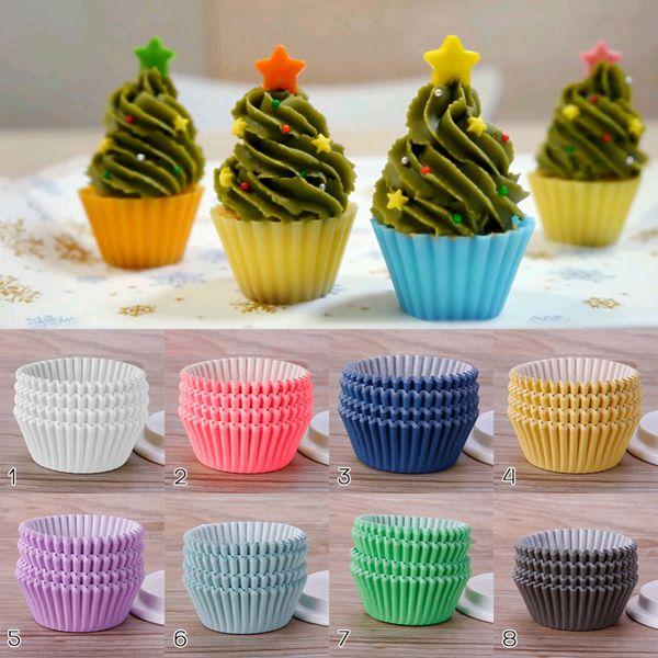 Cocina Mini Papel Cupcake Case Wedding Wrapper Liners Liners Tazas para hornear Cake Tools 200 Unids / set
