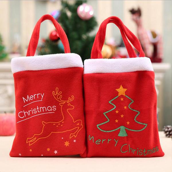 2 Cartas de Feliz Navidad de estilo Bolsas de regalo Fiesta de Navidad para niños Bolsa de caramelo Bolsa de Apple Bolsas para compras al aire libre