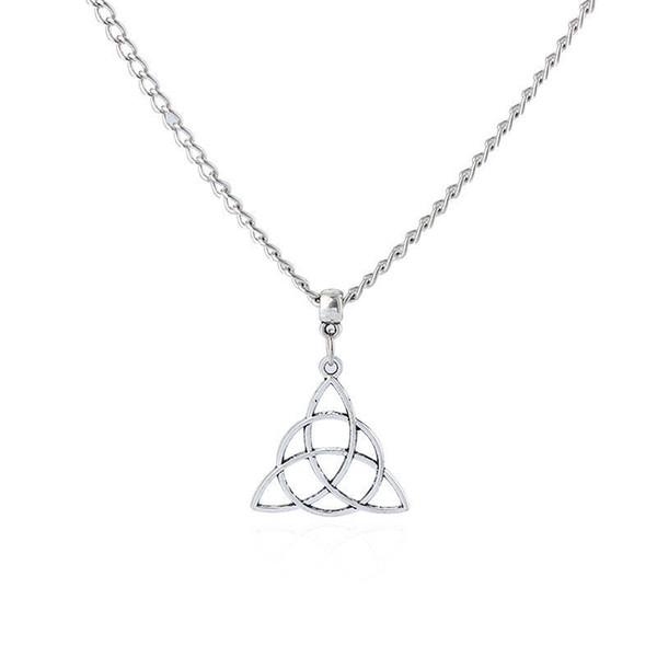 Regalo argento antico Triquetra Trinity Knot fascino Uomini collana E Donne Creatività modo di alta qualità vendita calda dei monili