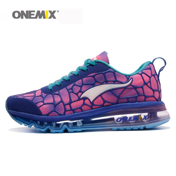 Onemix 2017 Mulher Tênis de Corrida Mujer Corriendo Zapatos Breathbale Calçados Esportivos Ao Ar Livre Tênis de Caminhada Atlético Tamanho 35-40
