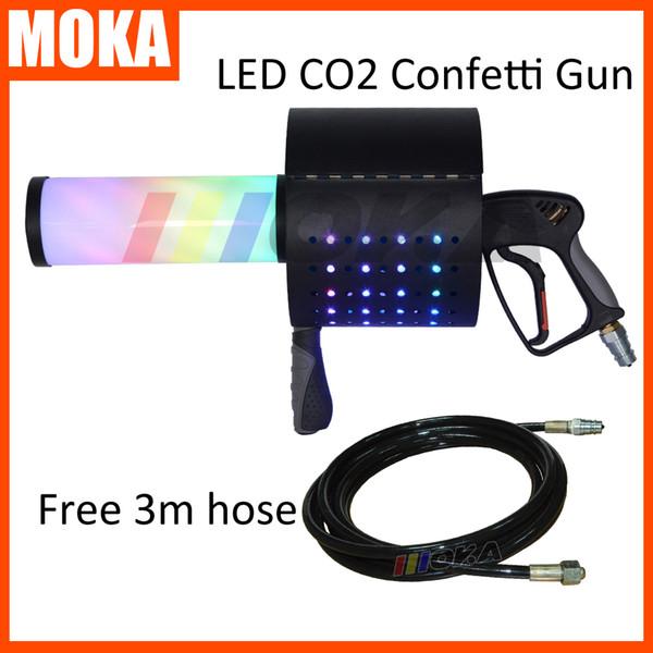 LED CO2 JET Party led Confetti Gun 7 colori CO2 Confetti Launcher Cannon FX Stage Confetti Streamer Machine Wedding