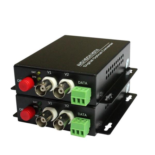 1080P HD CVI AHD TVI 2 Kanal Video Fiber Optical Media Konverter mit RS485 Daten für 1080p 960p 720p AHD CVI TVI HD CCTV