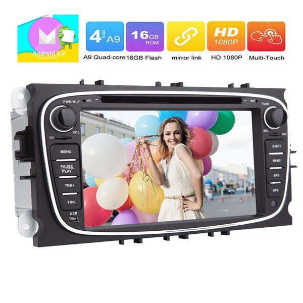 Eincar 7'' Android 6.0 Car Radio Stereo Double Din Headunit Bluetooth Autoradio for Ford Mondeo Ford Focus GPS Navigation car DVD CD