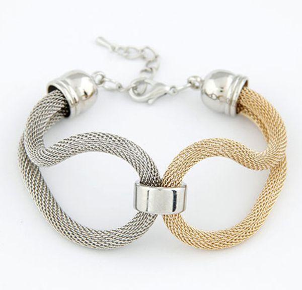 Bracelet Bangle for Women 925 Sliver Gold Plated on Alloy Plastic Snap Bracelet Snap Button Snake Chain Bracelet Charm Bracelets