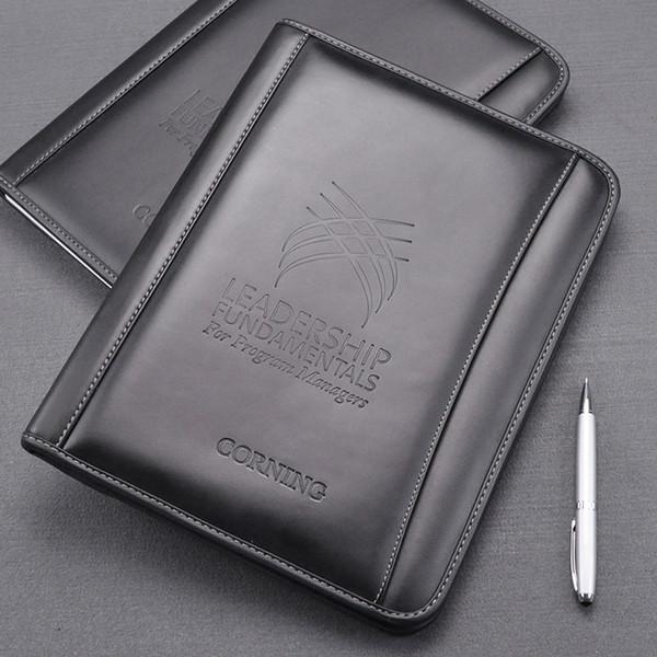 A4 genuine leather business office manager bag file folder organizer holder conference negotiation agreement folders 754B
