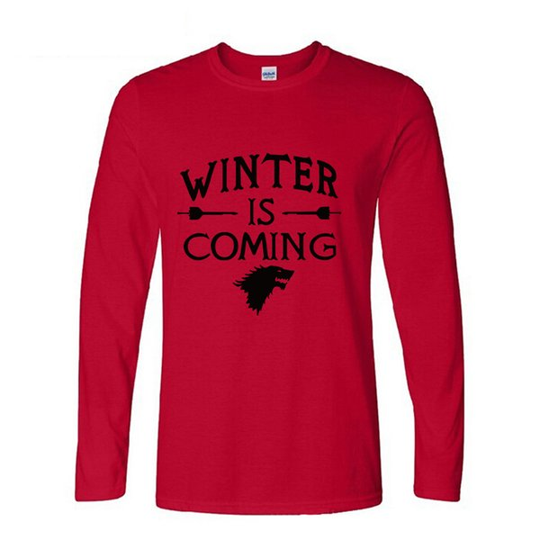 Bodybuilding PP Winter Is Coming T Shirts Casual Mens Tops long sleeve Man Hip Hop fashion funny clothing Men Tee Shirt Printed