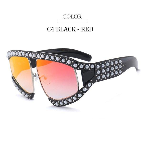 C4 Black Frame Red Miror