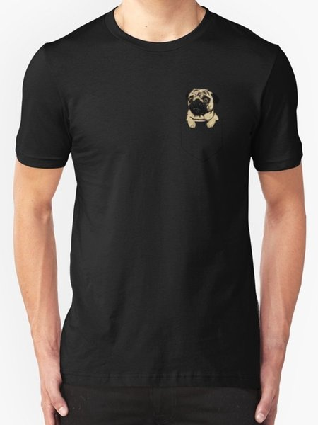 New Pocket Pug Men's T-Shirt Size S - 2XL Printed Summer Style Tees Male Harajuku Top Fitness Brand Clothing