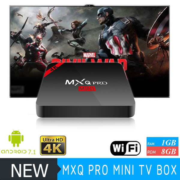 top popular MXQ PRO MINI Android 8.1 TV Box Amlogic S905W WiFi Build 1GB 8GB MXQ PRO 4K IPTV Media Player 2019