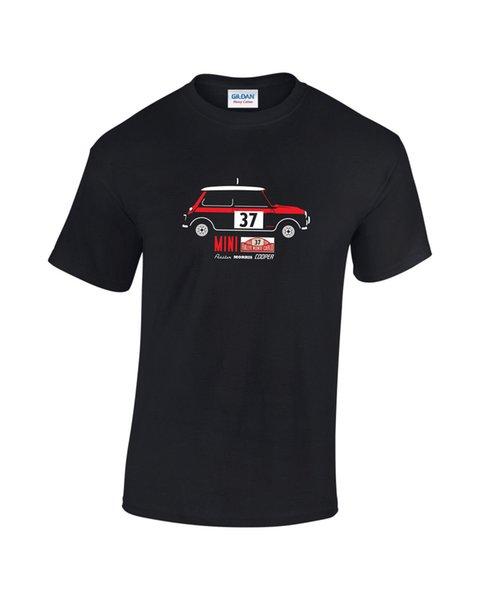 Paddy Hopkirk Cooper S Car Mens Printed T-Shirt Short Sleeve Leisure 2018 Summer 100% Cotton Tees Men Hot Cheap Male cheap wholesale