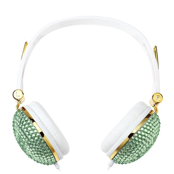 Anti-noise Music Headphone with Artificial Crystal Rhinestone Bling With anti-noise function, can listen the music anytime and anywhere