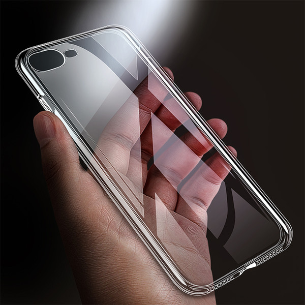 ZNP Ultra Thin Soft TPU Funda transparente para Apple iPhone X 8 8 Plus 7 Funda de silicona para iPhone 6 6s 7 Plus Funda para teléfono
