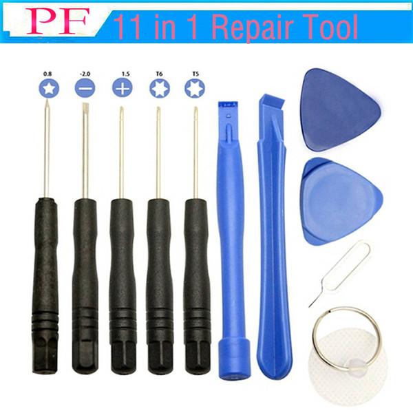 11 in 1 Schraubenzieher-Werkzeug-Ausrüstungen Handy-Reparatur-Ergänzungs-Werkzeug-Satz für iPhone iPad Samsung Sony Motorola Fahrwerk Blackberry