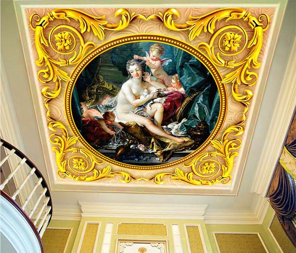 Mitologia Grega de Varejo personalizado Vênus Amor Deus Pintura A Óleo Zenith Mural Bonito Anjo Um Mural
