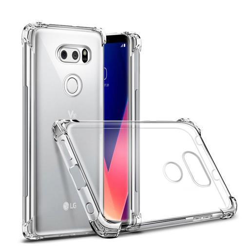 Phone Case For LG V20 V30 mini G7 thinq G6 Q8 V9 Stylo 3 K4 2017 K10 2018 Crystal Clear Air Cushion Shockproof Slim Case Silicone Gel Cover