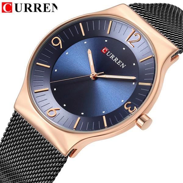 CURREN Hombres Relojes de Primeras Marcas de Lujo de Negocios de Moda de Cuarzo Hombres Reloj de pulsera de Acero Reloj Impermeable Relojes Mannens Saat