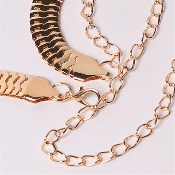 Women's Lady Fashion Metal Chain Pearl Style Belt Body Chain Belts For Women Dresses Waist Belt Women Slim 40AG30