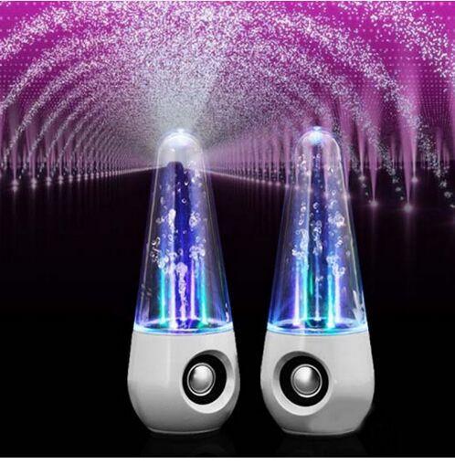 Eau Danse Colonnes Enceintes Light Show Eau Musique Fontaine Fontaine Haut-parleurs LED Cristal coloré USB Eau Pulvérisateur Haut-parleurs