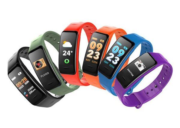 C1S Pulsera inteligente Bluetooth Pantalla a color Pulsera C1S Monitor de frecuencia cardíaca Medición de la presión arterial Rastreador de ejercicios