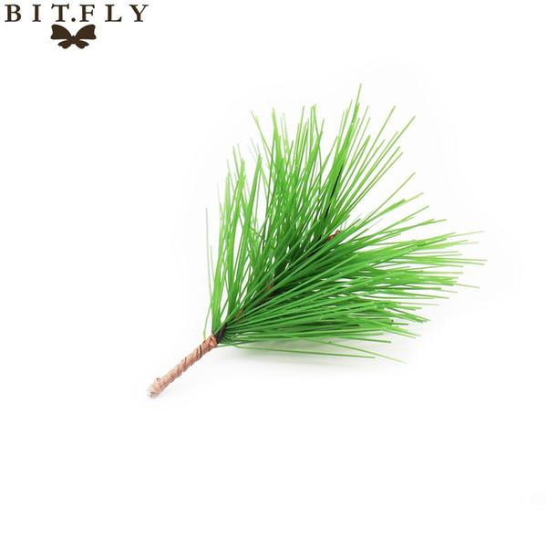 2017 new 10pcs Artificial plant Pine Needles Xmas Tree Garland Wreath Decoration diy Mixed Branchs Christmas Ornament Supplies