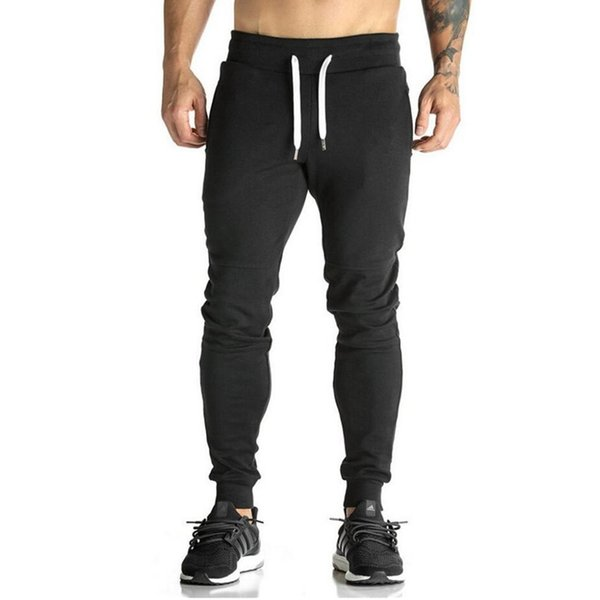 2018 High Quality Joggers Pants Men Bodybuilding Gyms Sweatpants For Runners Brand Mens Clothing Autumn Sweat Trousers Britches S18102001