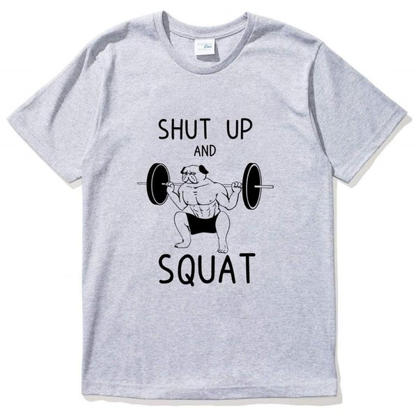 Pug Design Lifting Shut T Shirt White Best From Linnan0514 Up Muscle Pink Latest 66Dhgate com Shirts Squat Gray Gym exCdorB