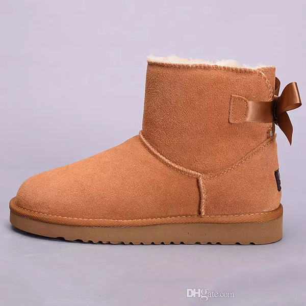 1d7e93d0d82 2019 Winter Australia Classic Snow Boots Good Fashion Tall Boots Real  Leather Bailey Bowknot Women'S Bailey Bow Knee Boots Mens Shoe Boots For  Men ...
