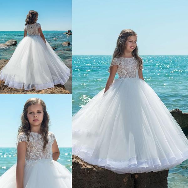 Compre Vestidos De Primera Comunion 2019 Diseñador Niños Vestidos De Primera Comunión Para Niñas Pequeñas Vestido De Niña De Flores Con Capucha De