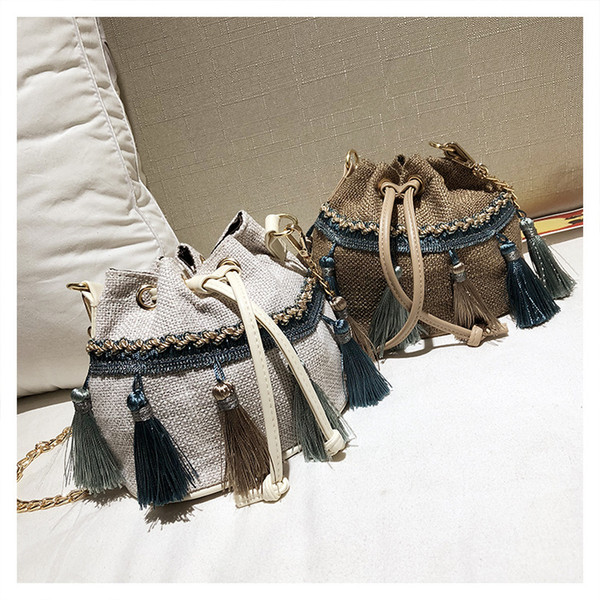 Fabric mini portable summer shoulder Messenger bag mobile phone bag small bag hip hop Korean baby girl