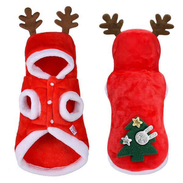 Christmas Dog Clothes Small Dogs Santa Costume for Pug Chihuahua Yorkshire Pet Cat Winter Clothing Jacket Coat Pets Costume