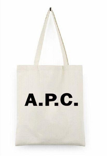 2019 Nuove donne handbagr APC Lettera bag Canvas Shoulder Tote Bag shopping grapheme Bundle tasca vuota tela sacchetto della chiusura lampo