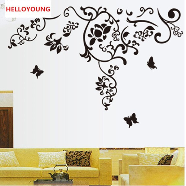 DIY Wall Sticker The Vine All-match Style Wallpapers Art Mural Waterproof TV Wall Stickers Home Decor Backdrop