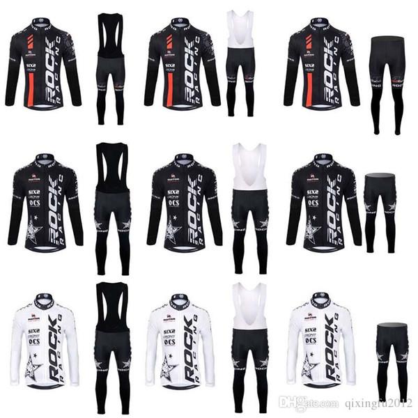 2018 ROCK RACING ciclismo uomo manica lunga maglia bavaglino set maillot ciclismo MTB Racing ropa ciclismo hombre pro team Quick dry