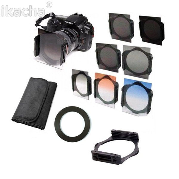 Lenses Accessories Camera Filters 49 52 55 58 62 67 72 77 82mm Ring adapter + Holder + Filter 2 ND4 ND8