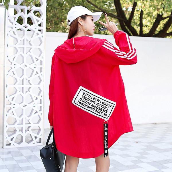 Women Windbreaker Summer Thin Long Style Light Jacket US Size S-XXL Y18110501