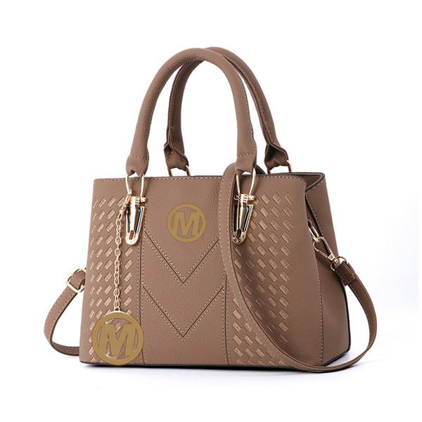 Women's Top-handle Cross Body Handbag Middle Size Purse Durable Leather Tote Bag M Brand K Luxury Ladies Shoulder Bags